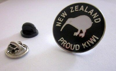 New Zealand Proud Kiwi Enamel Pin Badge