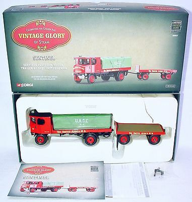 Corgi Toys 1:50 SENTINEL D64 STEAM WAGON & LOAD TRAILER UNITED AFRICA TRUCK MIB!