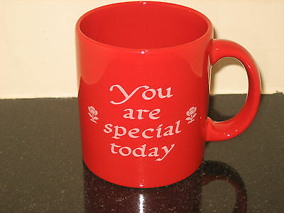 Waechtersbach Bright RED YOU ARE SPECIAL TODAY Mug Birthday Art Pottery GERMANY