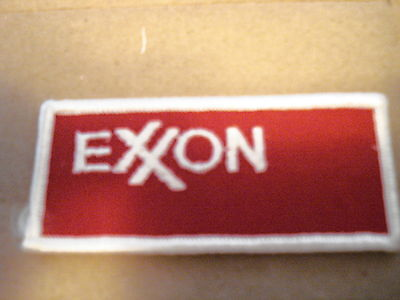 """EXXON NEW 3 1/2"""" X 1 1/2"""" NEW CLOTHING PATCH"""