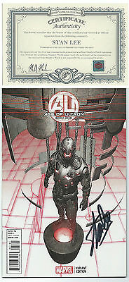 Age Of Ultron  Book One Paul Neary Variant Signed Stan Lee W/ Coa