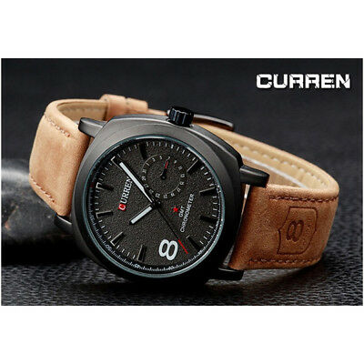 CURREN OROLOGIO DA UOMO Analogico QUARZO MODERNO SPORT WATCH