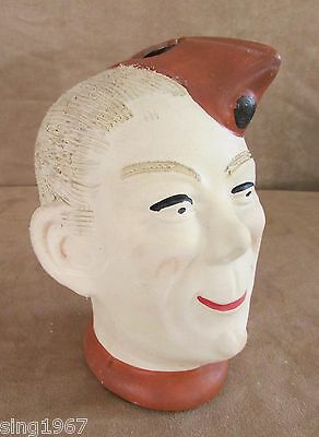 Elmer WW2 Military Army Soldier Head Vase chalkwear bisque clay figure bust