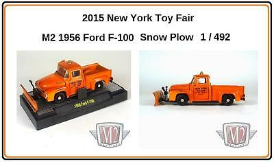 M2 Auto-Trucks '56 Ford F-100 snow plow 2015  NY Toy Fair 1:64 limited to 492 pc