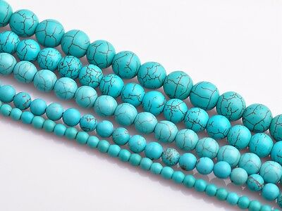 50pcs 6mm Round Natural Green Turquoise Gemstone Finding Loose Spacer Beads New