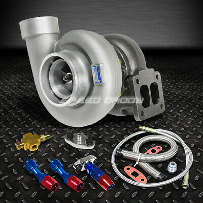 "Gt45 800+Hp T4/t66 3.5""v-Band 1.05 A/r 92 Trim Turbo Charger+Oil Feed+Drain Line"