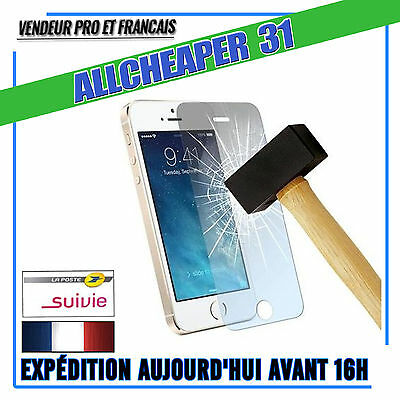 Vitre Verre Trempé Iphone 5 5S 5Se 5C Anti Casse Protection  Authentique