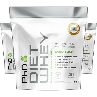 PhD Nutrition Diet Whey Protein 1kg / 1000g / 2.2lb / 40 Servings - All Flavours
