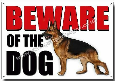 Alsation Beware Of The Dog Metal Sign,security,warning,guard Dog Security Sign.