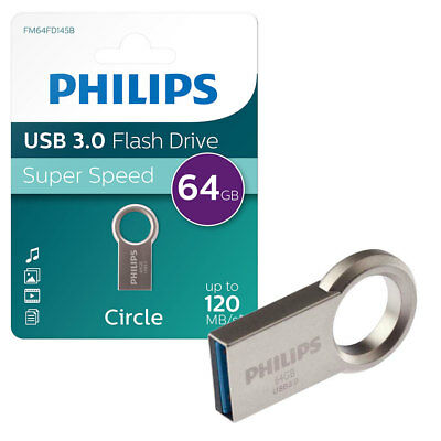 64GB Philips Circle Edition USB 3.0 Flash Key Drive USB Memory Stick 30MB/s 64GB