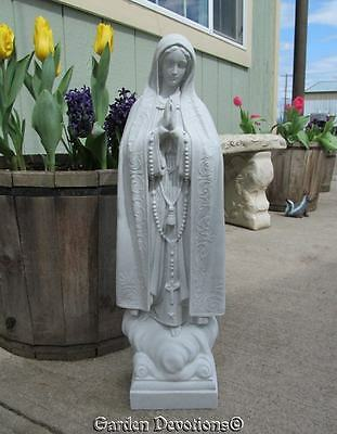 """Nice! ~ 24"""" OUR LADY OF FATIMA STATUE Indoor Outdoor Mary Garden Decor *USA*"""
