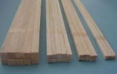 Balsa Stripwood Various Sizes 457mm long Bundles of 10