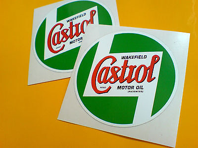CASTROL Wakefield Classic Vintage  Retro Car Motorcycle Stickers Decals 75mm