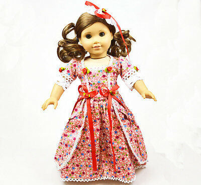 "Doll Clothes fits 18"" American Girl Handmade Handmade pattern Dress"