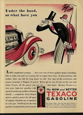 Texaco Gasoline Vintage Advertisement Texaco Petroleum Products Texas Company
