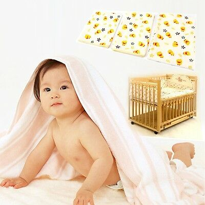 NEW Infant Baby Bed Mattress Waterproof Cotton Duck Nappy Change Sheet Protector