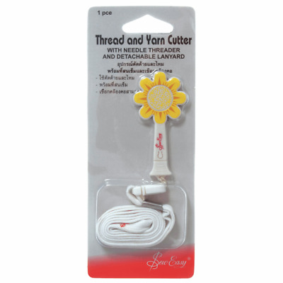 Sew Easy Daisy Thread and Yarn Rotary Blade Cutter Needle Threader