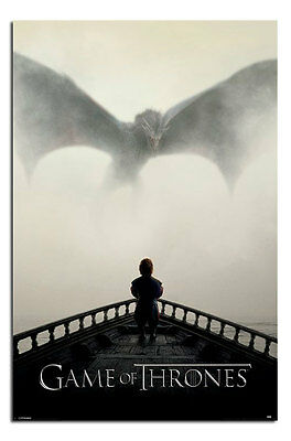 Game Of Thrones A Lion & A Dragon Poster New - Maxi Size 36 x 24 Inch