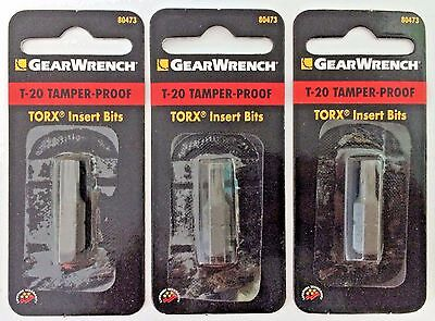 Gearwrench 80473 T20 Tamper Proof Torx Bit 3PCS