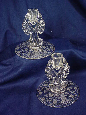 "NEW MARTINSVILLE ""PRELUDE""  PAIR SINGLE  CANDLESTICKS"