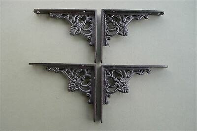 2 Pairs Of Small Regency Antique Style Shelf Brackets Iron Shelving Bracket S1