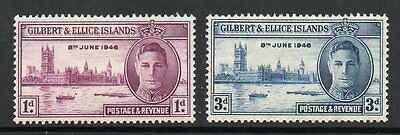Gilbert & Ellice Islands 1946 victory unmounted mint set of stamps