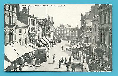 Wrexham.high Street,looking East.postcard Posted 1923.