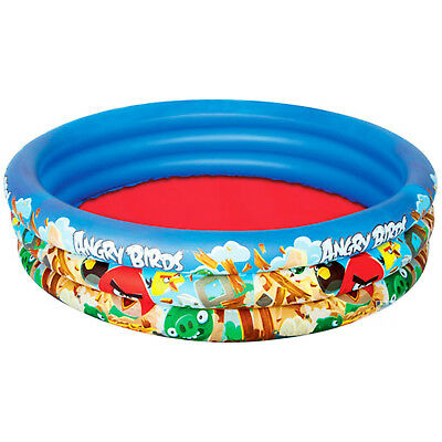 The Angry Birds 3 Ring Kids Paddling Swimming Pool Size 152cm x 30cm Inflatable