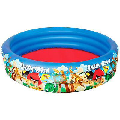 The Angry Birds 3 Ring Paddling Swimming Pool Size 152cm x 30cm Inflatable + 3