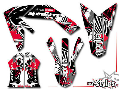 APRILIA SXV RXV MXV, 450 550, 06-15, VDB Supermoto Full decals graphic kit dekor
