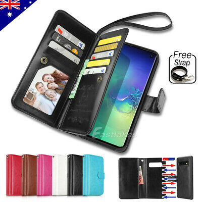 Flip Magnet Leather WALLET Case Cover for Samsung Galaxy S9 S8 Plus S7 Note 8