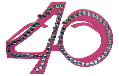40Th Birthday Age Spectacles Glasses Specs - Pink