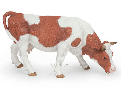 Papo 51147 Grazing Simmental Cow Farm Animal Figurine Model Toy Play Gift - NIP