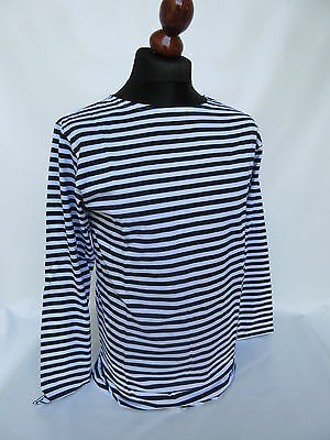 Russ Marine Pullover Sommer Bretagne Shirt Tricot Rayè Sweater Sailor Navy WK WH