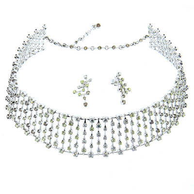 H. Stern World Collection 23.43ctw Diamond 18k Gold Necklace and Earrings