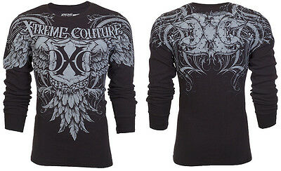 Xtreme Couture AFFLICTION Mens THERMAL T-Shirt DARING Eagle Tattoo Biker $58