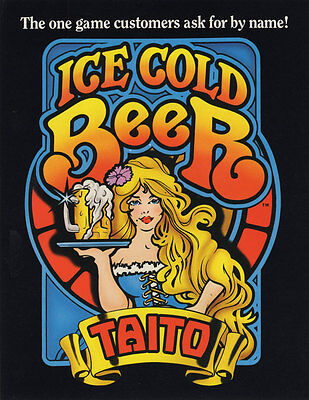 1983 Taito Ice Cold Beer Arcade Flyer Mint