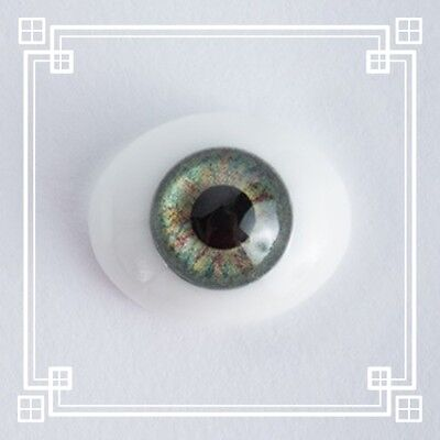 ~OvAL GLaSs IriS I EyEs 10MM GrEeN  ReBoRn