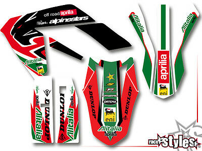 APRILIA SX RX 50 125, 08-2018, supermoto aufkleber set graphics decals dekor kit
