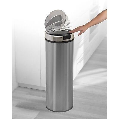 Morphy Richards 50 Litre Automatic Round Sensor Paper Waste Bin Stainless Steel