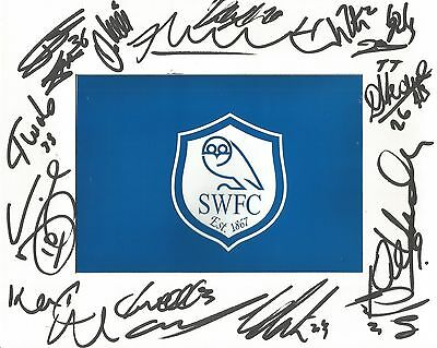 A 10 x 8 inch mount personally signed by 13 Sheffield Wednesday players. Semedo.