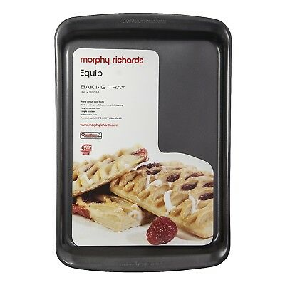 Morphy Richards 970505 Durable Aluminised Steel Oven Tray Large Baking Graphite