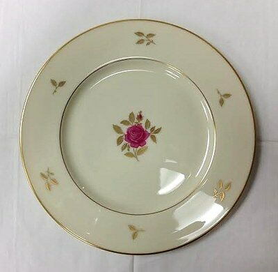 "Lenox ""Rhodora"" Dinner Plate 10 1/2"" Pink Floral On Ivory Bone China U.s.a."