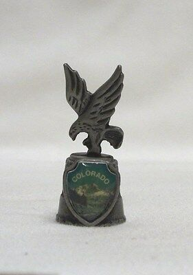 Colorado Pewter Thimble with Eagle