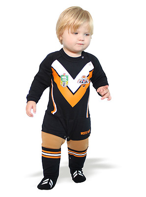 Wests Tigers NRL Footysuit All-in-one Romper Bodysuit 1