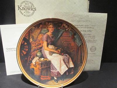 Dreaming in the Attic Rockwell Rediscovered Women First Issue COA & Box