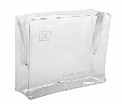 Holiday Airline Clear Plastic travel hand luggage toiletry cosmetic wash bag