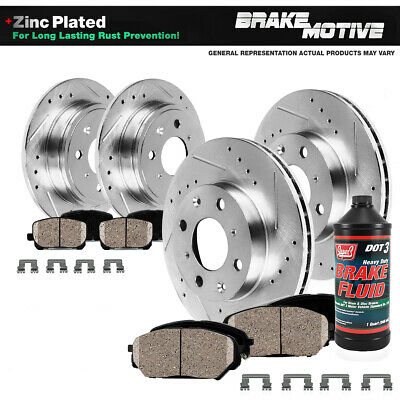 Front & Rear DRILLED SLOTTED BRAKE ROTORS AND 8 CERAMIC PADS 94 - 02 MX5 Miata