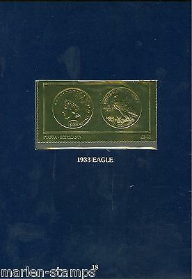 Staffa 8 Pound Gold Foil Stamps Depicting The Us 1933 Indian Eagle