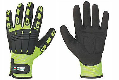 THL Gloves Yellow Fireman Fire Brigade Rescue Service Top Grip Approved EN 388
